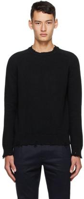 Saint Laurent Black Distressed Sweater