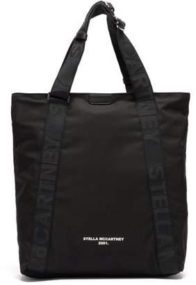 Stella McCartney Logo Jacquard Strap Tote Bag - Womens - Black Multi