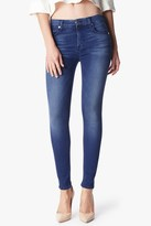 7 For All Mankind Slim Illusion Luxe Mid Rise Skinny In Medium Heritage