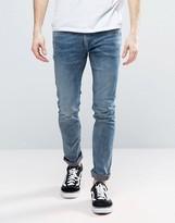 Religion Slim Fit Noize Jeans In Dark Blue