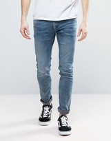 Religion Slim Fit Noize Jeans In Light Blue
