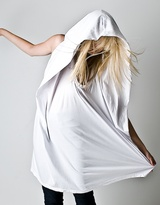 White Square Hood Tank Dress