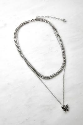 Urban Outfitters Layered Butterfly Pendant Necklace - Silver ALL at