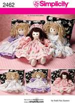 Simplicity Sewing Pattern 2462 for 21 inch Soft Bodied Doll & Clothing, One