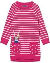 Joules Pink Rabbit Pocket Stripe Knit Dress