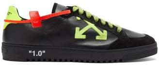 Off-White Off White 2.0 Logo Applique Leather Trainers - Mens - Black