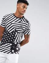 Hype T-shirt In White With Stripes