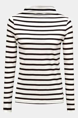 Esprit Womens Turtle Neck Striped Sweater - Natural