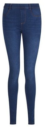 Dorothy Perkins Womens Blue Midwash 'Eden' Lightweight Ankle Grazer Jeggings, Blue