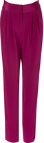 Sophie Theallet Dazzling Purple Piped Pleated Silk Pants