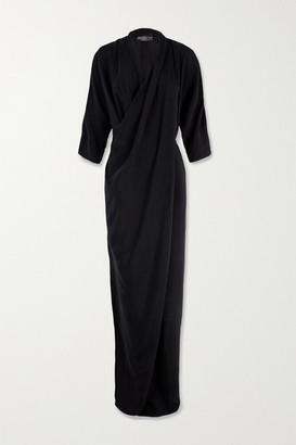 Cortana Kiko Cupro Maxi Dress - Black