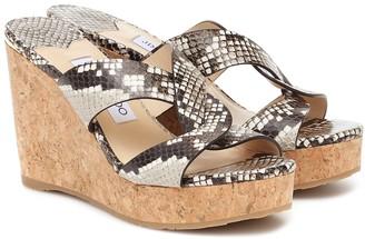 Jimmy Choo Atia 100 leather sandals