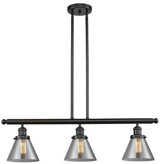 """Breakwater Bay Wyndmoor 3 - Light Kitchen Island Linear Pendant Finish: Oil Rubbed Bronze, Shade Color: Smoked, Size: 36"""" H x 36"""" W x 8"""" D"""