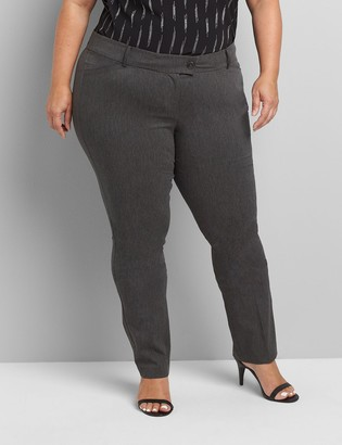 Lane Bryant Straight Fit Low-Rise Straight 4-Season Pant