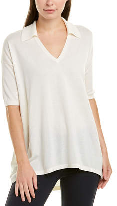 Lafayette 148 New York Relaxed Cashmere & Silk-Blend Modern Polo