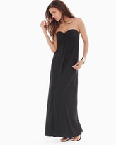 Soma Intimates Bandeau Maxi Dress Black TL