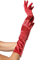 Leg Avenue Red Satin Elbow-Length Gloves