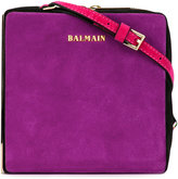 Balmain Pablito shoulder bag - women - Suede/metal - One Size