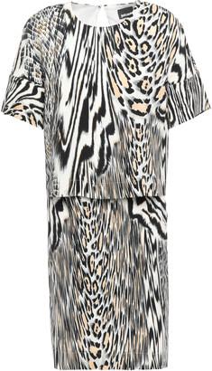 Just Cavalli Layered Printed Crepe-jersey Dress