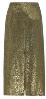 Nina Ricci Sequinned Silk Skirt