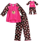 Dollie & Me Girls 4-14 Bear Pajama Set