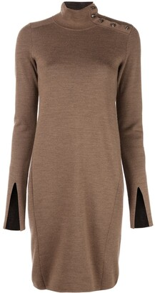 Proenza Schouler Merino Knit Long Sleeve Dress