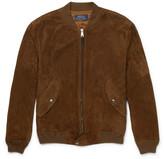 Polo Ralph Lauren Slim-fit Suede Bomber Jacket - Tan