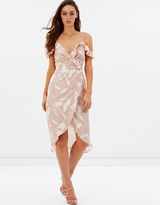 Peony Cold Shoulder Ruffle Wrap Dress