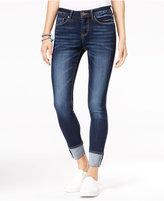 Indigo Rein Juniors' Selvedge Cuffed Skinny Jeans