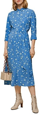 Whistles Watercolour Side-Tie Dress
