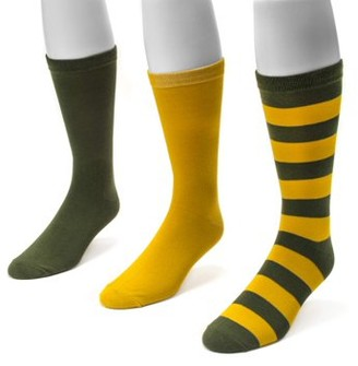 Muk Luks Game Day 3 Pair Pack Crew Socks