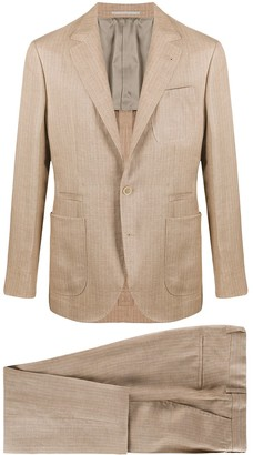 Brunello Cucinelli Natural Flax Two-Piece Suit