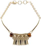 Iosselliani Rolex Chain Antique Brass Necklace in Black