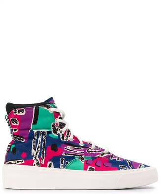 Converse High-Top Abstract Print Sneakers