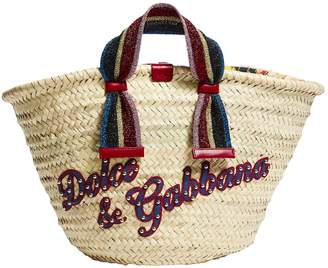 Dolce & Gabbana Kendra Straw Tote Bag