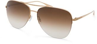 Barton Perreira Chevalier Titanium Aviator Sunglasses