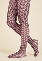 ModCloth Motif Maven Tights in Plum
