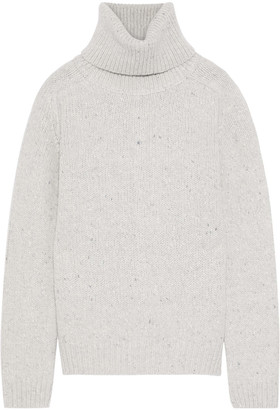 Adam Lippes Marled Wool And Cashmere-blend Turtleneck Sweater