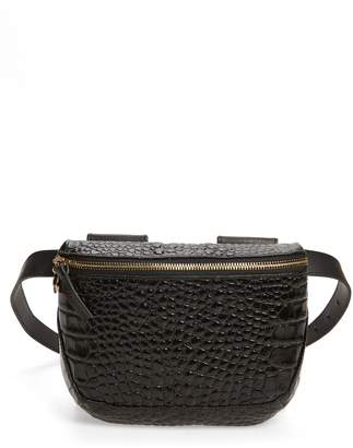 Clare Vivier Embossed Leather Belt Bag