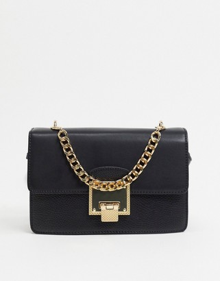 Aldo viktoriya shoulder bag with chain strap in black