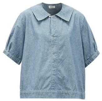 Chimala Sailor-collar Cotton-chambray Shirt - Womens - Light Blue