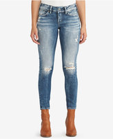 Silver Jeans Co. Suki Ripped Ankle Skinny Jeans