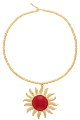 Aurelie Bidermann Helios 18kt Gold-plated Choker - Red Gold