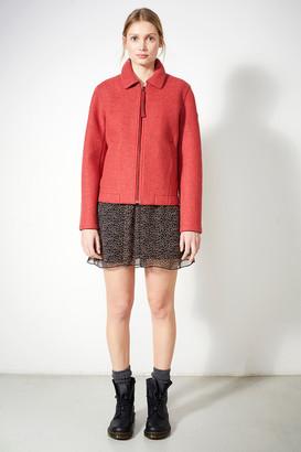 Langer Chen - Jacket Cleveland - rouge   M - Dark grey/Rouge