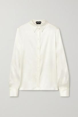 Tom Ford Silk-blend Satin Shirt - Ivory