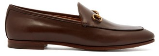 Gucci Jordaan Leather Loafers - Brown