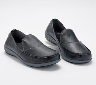 Spenco Orthotic Men's Leather Slip-Ons - Siesta