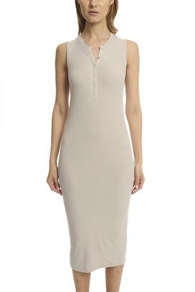 Atm By Anthony Thomas Melillo ATM Sleeveless Henley Midi Dress