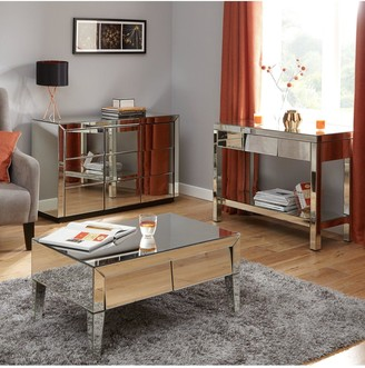 Monte Carlo Ready Assembled Mirrored Lamp Table