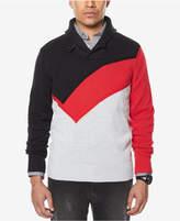 Sean John Men's Colorblocked Shawl-Collar Sweater